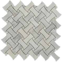 Ivy Hill Tile Pedigree Random Sized Marble Mosaic Tile in Asian Statuary Stone Mosaic Tile, Mosaic Wall Tiles, Marble Mosaic, Mosaic Glass, Glass Tiles, Carrara Marble, Splashback Tiles, Decorating Bookshelves