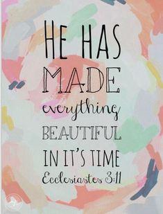 Ecclesiastes 3:11.