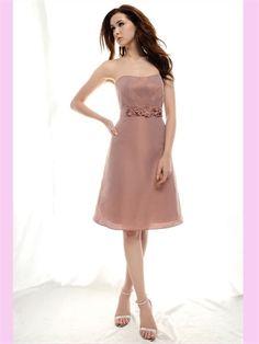 Short Strapless Bridesmaid Dress @Samantha Street