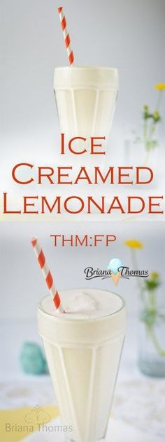 This Ice Creamed Lemonade is my healthy take on a Chick-fil-A Frosted Lemonade!  THM:FP, low carb, low fat, sugar free, and gluten/nut free.