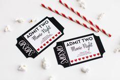 valentine's day movie ticket invitation
