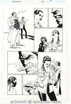100 BULLETS ISSUE 94 PAGE 11 ART BY EDUARDO RISSO  ( elegant dizzy cordova and LONO  !!! ) Comic Art