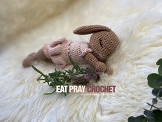 DIY Häkelanleitung German English, Crochet Patterns, Bunny, Felt, Embroidery, Knitting, Diy, Cookie, Step By Step Instructions