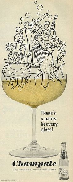 1964 Illustrated Ad, Champale