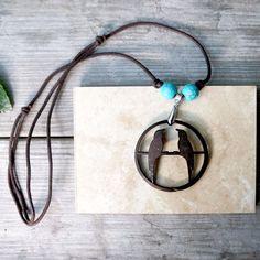 Coconut Wood Bird Necklace