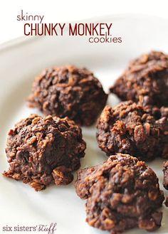 Skinny Chunky Monkey Cookies | Six Sisters' Stuff