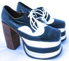 1970's Men's Platform Shoes // Disco Shoes by WildWoodRoseVintage, $150.00