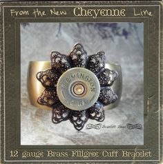 LOVE LOVE LOVE this too!!  Brass Filigree Bullet Shotgun Casing Cuff Bracelet by ScarlettSage, $28.50