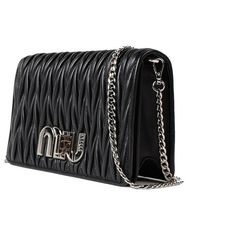 Miu Miu Women's Black Leather Clutch (5,095 PEN) ❤ liked on Polyvore featuring bags, handbags, clutches, black, miu miu purse, miu miu, miu miu handbags, leather clutches and leather handbags