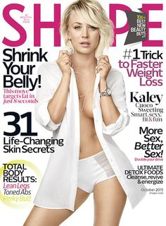 Kaley Cuoco at the Shape Magazine Cover - October 2015 Issue...