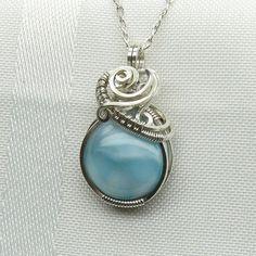 This is absolutely beautiful!  Larimar Necklace  Larimar   Larimar Pendant  Larimar by StoneNest, $70.00