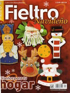 Moldes para muñecos en fieltro Christmas Books, Christmas Holidays, Xmas, Book Crafts, Crafts To Do, Web Gallery, Cross Stitch Books, Jingle Bells, Gingerbread Cookies