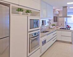 Inspiração de cozinha toda clean  Amoooooo!!! ❤️❤️❤️ - #cozinha #clean #design #decoração #arquitetura #acasaqueeuquero #novidades #instagram