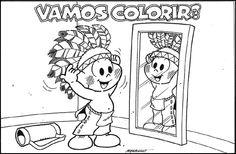 livro para colorir turma da monica - Pesquisa Google