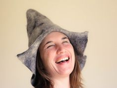 Mongolian Inspired Hat Wet Felted Hat Wool by TheFeltedGnomeKnows
