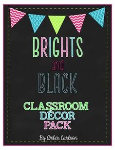 Are you looking for a 'cute- but not cutesy-' classroom decor theme? Look no further than this Brights and Black decor collection! It pairs timeless bright patterns with black accents and makes the perfect accessory for the upper elementary or middle school classroom! Now all items in the collection have been bundled at a discount! www.teacherlifeblog.com