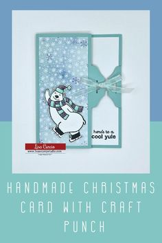 Did you know you can make a handmade Christmas card with a craft punch? Let me show you how easy and festive it is! www.lisasstampstudio.com #diychristmascards #christmascardideas #handmadechristmascards #cardmakingtutorials #beautifulchristmascards #lisacurcio #lisasstampstudio #stampinup #stampinupchristmascards Beautiful Christmas Cards, Diy Christmas Cards, Handmade Christmas, Greeting Card Video, Greeting Cards, How To Make Greetings, Puff Paint, Wink Of Stella, Craft Punches
