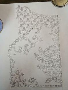 Biswajit fashion designer cum textile designer an new creation developer's media statistics and analytics Tambour Embroidery, Hand Embroidery Videos, Hand Work Embroidery, Couture Embroidery, Hand Embroidery Stitches, Beaded Embroidery, Embroidery Neck Designs, Bead Embroidery Patterns, Maggam Work Designs