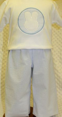 Classic Boys Easter Outfit with Sersucker Pants and Appliqued Shirt Little Boy Outfits, Little Boys, Kids Outfits, Baby Boy Fashion, Kids Fashion, Seersucker Pants, Easter Outfit, Applique Ideas, Applique Designs