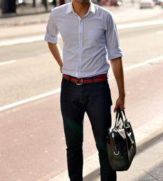 Casual yet Dapper Gentleman Mode, Gentleman Style, Mode Masculine, Sharp Dressed Man, Well Dressed Men, Stylish Men, Men Casual, Casual Belt, Smart Casual