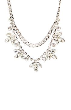 Crystal Vine Chain Necklace
