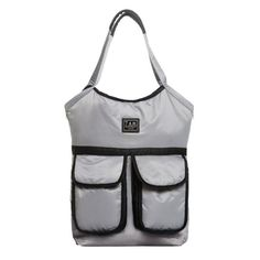 """The Barcelona is your ideal city diaper bag, and although it's extremely lightweight it has tons of practical features.   2- 4 week lead time  Details: features two large magnet snap outside pockets 3 Inside deep pockets for bottles and baby's necessities water repellent outer shell and lining includes 1 bottle holder/lunch box thermal insulation large top handle  large zipper opening  cushioned changing pad two adjustable stroller straps to attach to any stroller   Dimensions: 14""""w x 15.5""""h…"""
