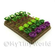 Image detail for -Dolls House Miniature Garden - 7 Strips of Vegetables For The ...