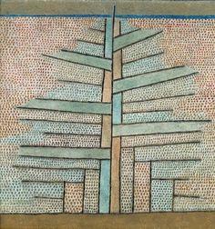 Paul Klee (All. 1879-1940), Le Pin, huile sur toile, 53 x 50,50 cm