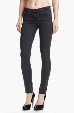 Have these legging jeans in a dark wash - size 27 (went down a size because they are so stretchy).  Love the jeans, but they don't stand the test of time well.    AG Jeans 'The Legging' Super Skinny Jeans (Grey) | Nordstrom