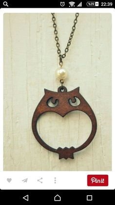Items similar to wooden owl necklace. on Etsy Wooden Owl, Wooden Crafts, Owl Jewelry, Wooden Jewelry, 3d Laser Printer, Home Decor Catalogs, Laser Cut Jewelry, Owl Necklace, Scroll Saw Patterns