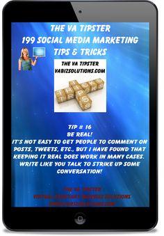 The VA Tipster; 199 Social Media Marketing Tips and Tricks  Tip # 16