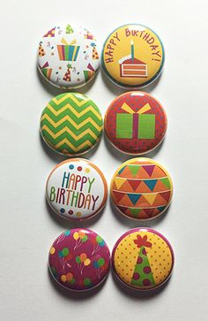 Birthday Party 2 Flair by aflairforbuttons on Etsy