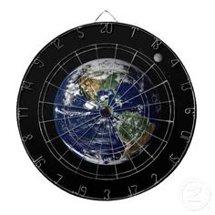 Earth and Moon from Space - Dart Board