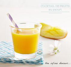 Recette cocktail de fruits au yaourt #yummy #cooking #healthy #blancheporte