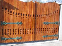 External Doors, Wooden Gates, Woodworking Jigs, Fence, House Design, Architecture, Projects, Outdoor, Porch