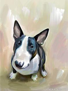 English Bull Terrier (artwork by Stas Studio)