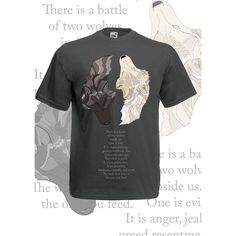 Wolf shirt inspiring quote. Native American spirit animal tshirt. Two... ($23) ❤ liked on Polyvore