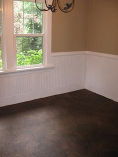 You simply won't believe how they redid this floor using.... paper bags!!!
