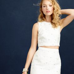J.Crew - Collection beaded cropped top