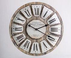 Rustic 60cm Round Wall Clock