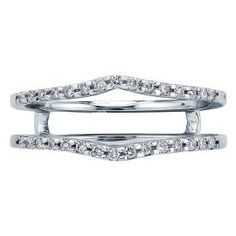 1/7ct TW Chevron Diamond Ring Insert - Shop All Wedding Bands - Wedding Bands - Engagement & Wedding - Helzberg Diamonds  <>