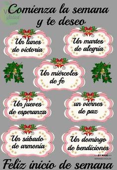 Comienza la semana Funny Good Morning Quotes, Morning Greetings Quotes, Good Morning Friends, Good Morning Messages, Good Morning Good Night, Spanish Inspirational Quotes, Spanish Quotes, Good Morning In Spanish, Good Day Wishes