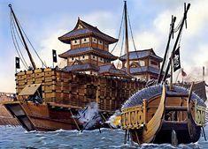 Korean Turtle Ship - Mariner's Museum article on Japanese and Korean ships.