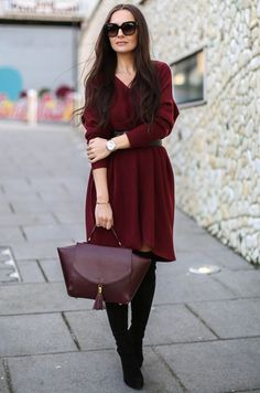 цвет марсала, осенний гардероб 2015, базовый гардероб на осень, уличный стиль осень, модные вещи сезона, модные тренды тенденции осень 2015, стильный образ на каждый день, street style, street fashion, women's knitwear, I love knitwear (фото 3)