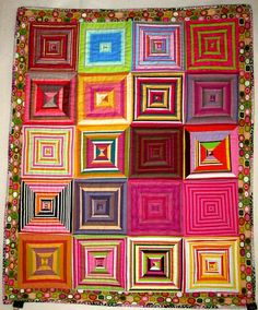 Stripes - baby quilt by ArtGirl