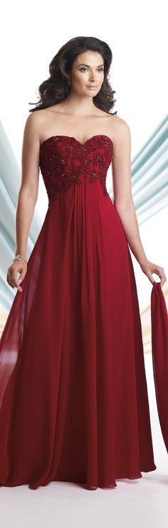 God~ mother of the bride gown in red.  Oh, I'll just need a jacket for the ceremony.  This color would coordinate well.