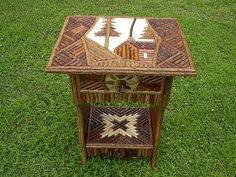 Twig table rustic furniture wood shabby by Twigs2Whirligigs, $600.00