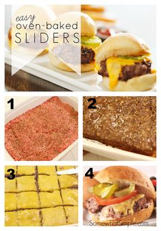 My kids will love these easy oven baked sliders! What a fun meal during baseball season!