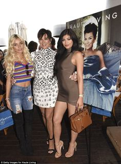 More fam time: Kris also posed with Pia Mia and daughter Kylie, 18...