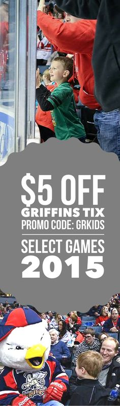 $5 off per ticket with this PROMO code. Valid on certain games for the 2015-2016 hockey season in Grand Rapids!